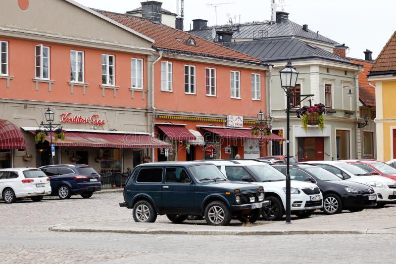 Praça da cidade de Arboga foto de stock royalty free