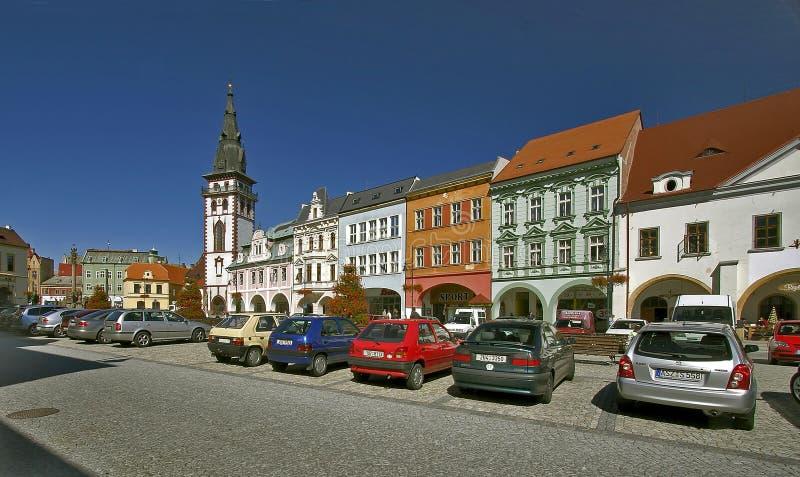 Praça da cidade de Chomutov foto de stock