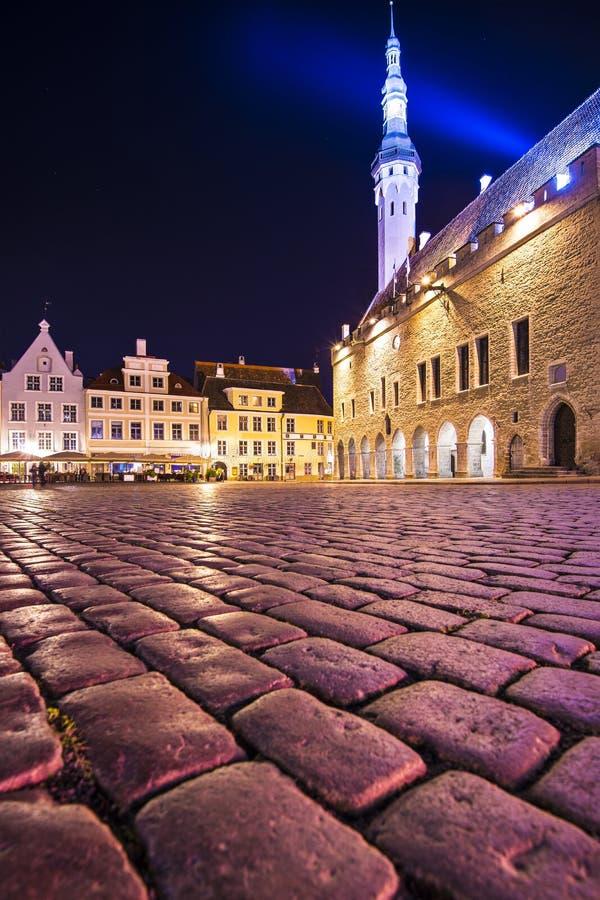 Praça da cidade de Tallinn Estônia imagens de stock