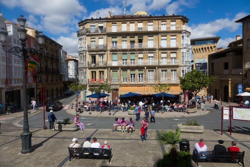Praça da cidade no Haro, La Rioja foto de stock royalty free