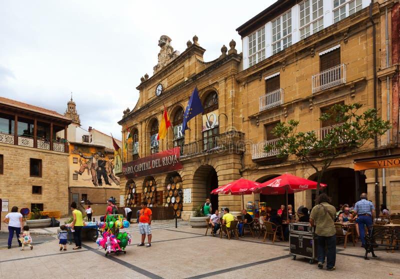 Praça da cidade no Haro, La Rioja foto de stock