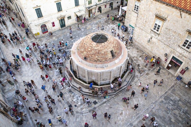 Praça da cidade velha de Dubrovnik Europa, Croácia imagem de stock royalty free