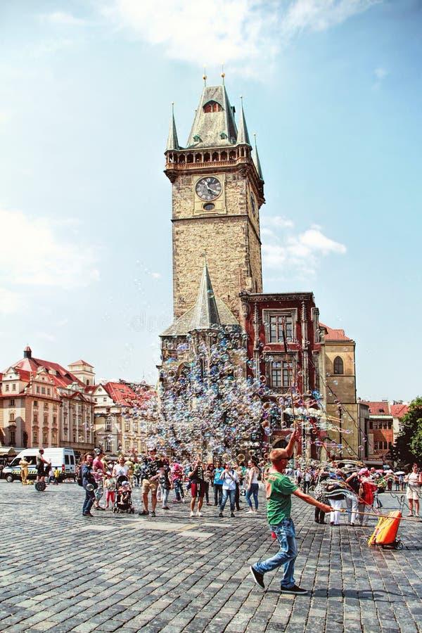 Praça da cidade velha em Praga, república checa imagens de stock