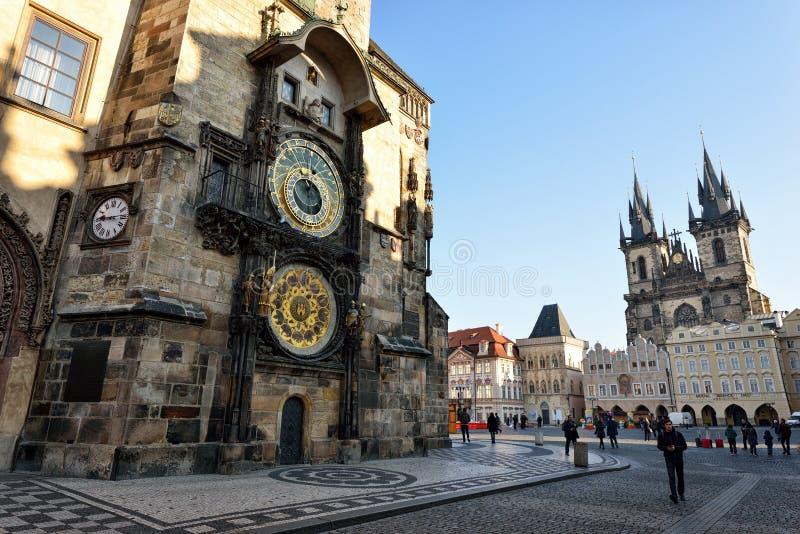 Praça da cidade velha, Praga imagem de stock