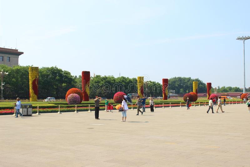 Praça de Tiananmen, Beijing, China imagem de stock