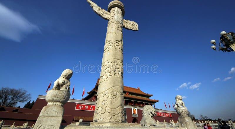 Praça de Tiananmen, Pequim fotos de stock