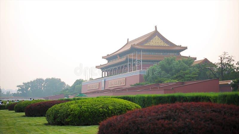 Praça de Tiananmen, Pequim China - porta da paz celestial A Praça de Tiananmen é quadrado de cidade central no Pequim Pequim imagens de stock