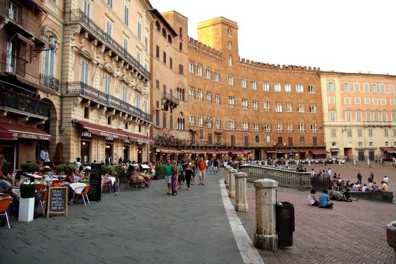 Praça del Campo em Siena (Itália) imagem de stock