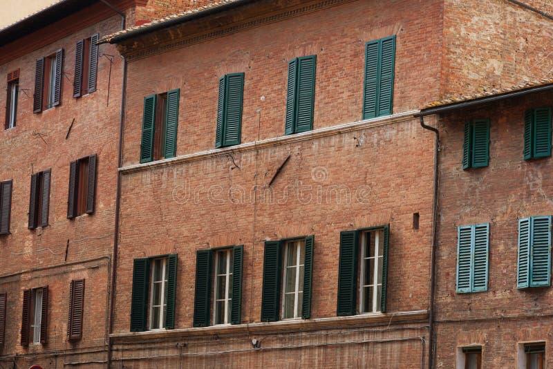 Praça del Campo O centro histórico de Siena foi declarado pelo UNESCO um local do patrimônio mundial Construções históricas bonit fotografia de stock royalty free