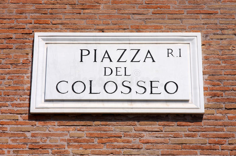 Praça del Colosseo em Roma, Italy foto de stock royalty free