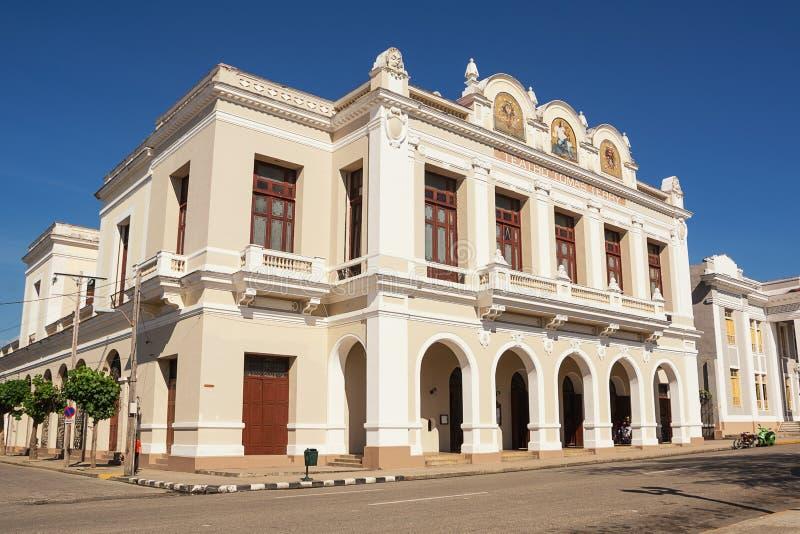 Praça di Cienfuegos Cuba do nella de Teatro Terry Tomas imagens de stock