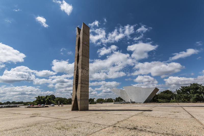 Praça dos Três Poderes-巴西利亚- DF -巴西 免版税库存图片