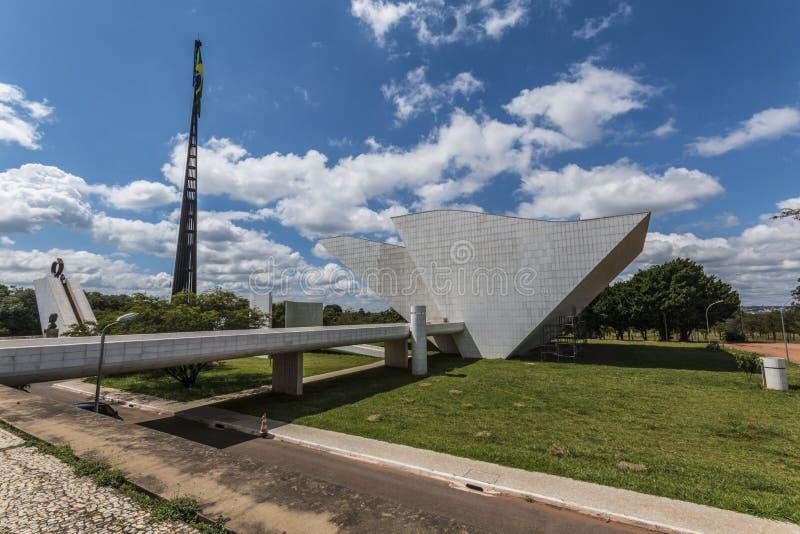 Praça dos Três Poderes-巴西利亚- DF -巴西 免版税库存照片