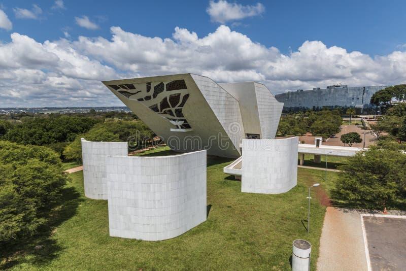 Praça dos Três Poderes-巴西利亚- DF -巴西 库存照片