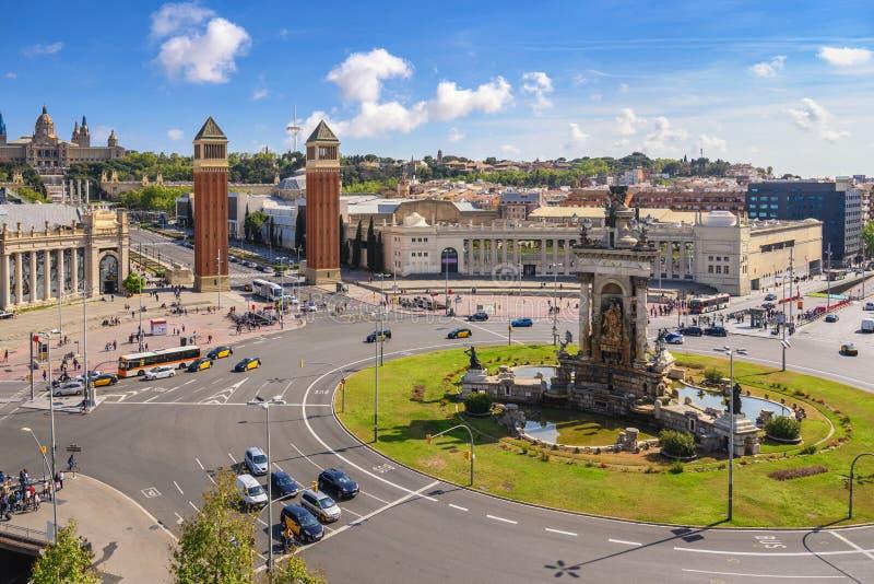 Praça Espanya Espanha Barcelona imagens de stock royalty free