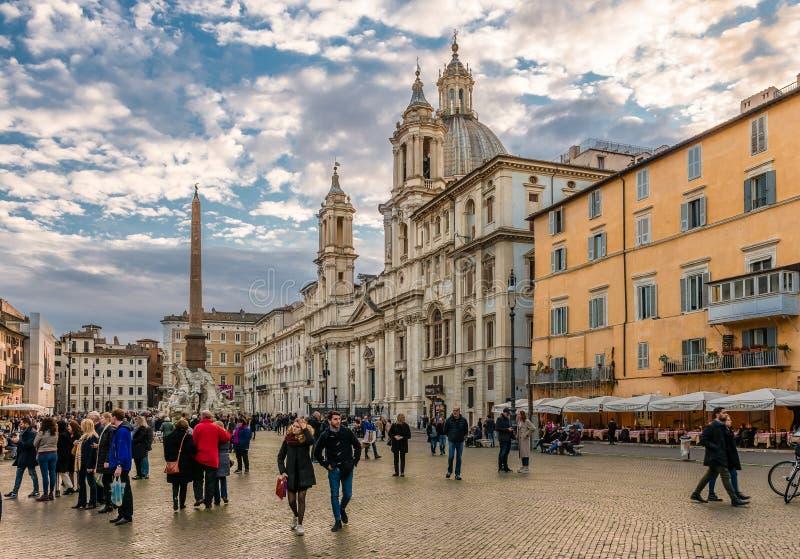 Praça Navona em Roma imagens de stock royalty free
