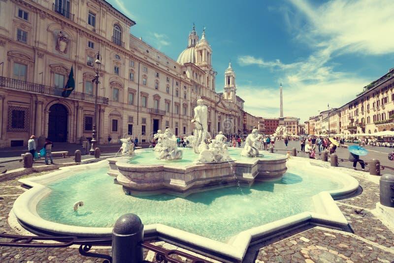 Praça Navona em Roma fotos de stock
