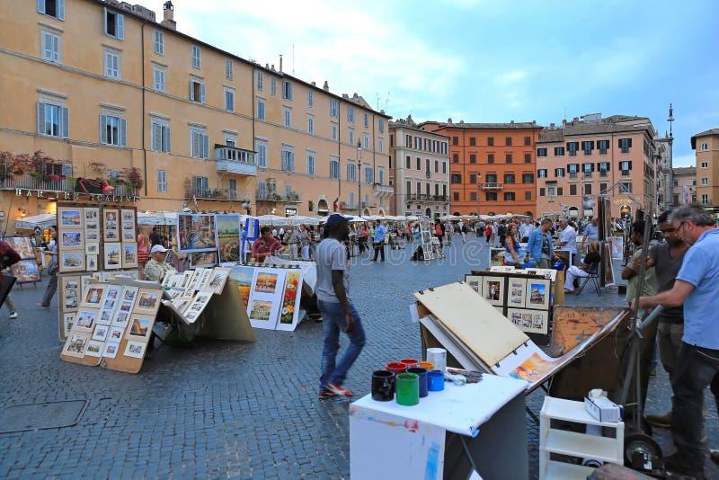 Praça Navona Roma fotografia de stock
