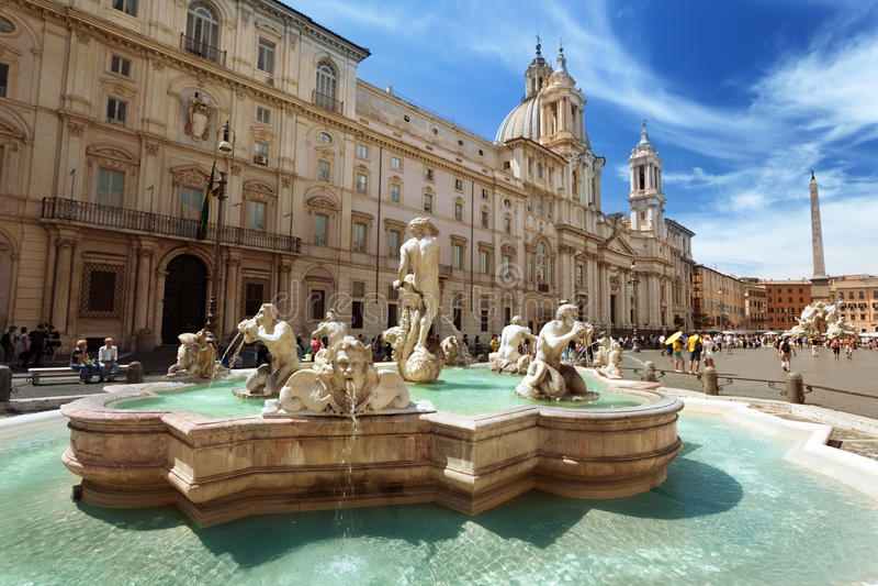 Praça Navona, Roma. Itália fotos de stock royalty free