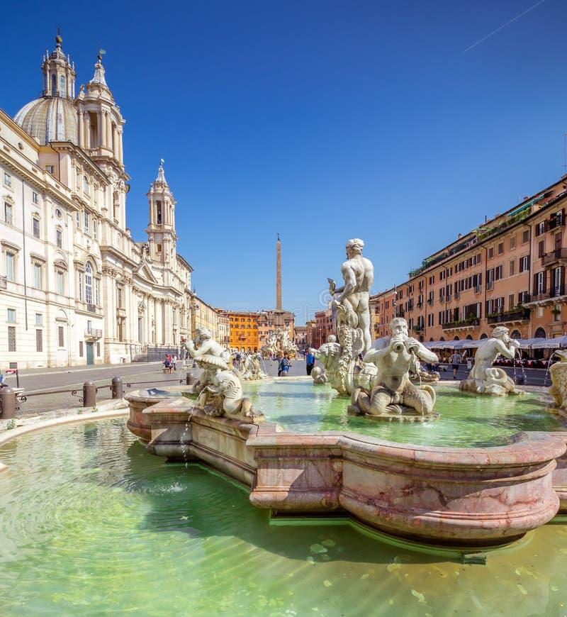 Praça Navona, Roma, Itália, Europa Estádio antigo de Roma para competições atléticas imagem de stock