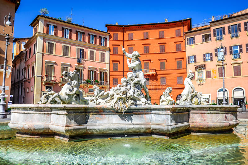Praça Navona, Roma, Italy fotografia de stock