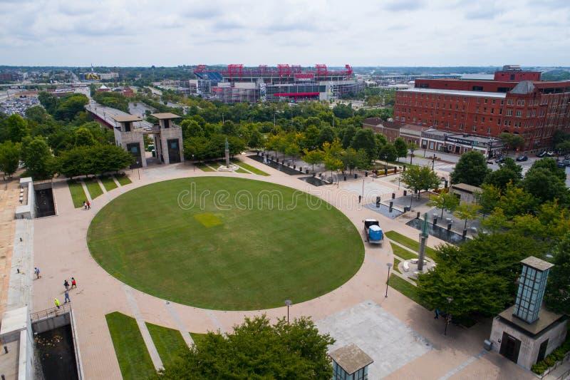 Praça pública aérea de Nashville da imagem fotografia de stock royalty free