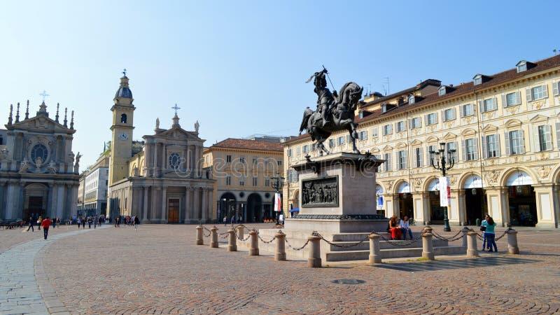 Praça San Carlo fotos de stock
