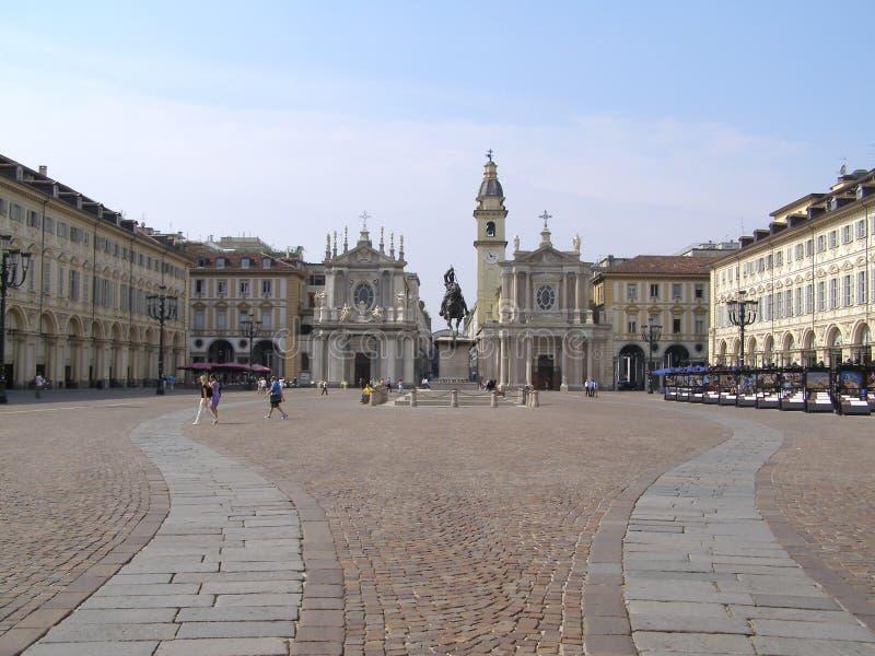 Praça San Carlo fotografia de stock