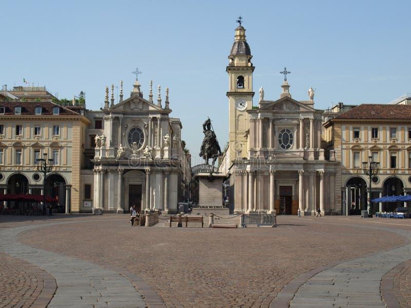 Praça San Carlo, Turin imagens de stock royalty free
