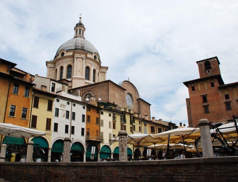 Praça Sordello em Mantova fotos de stock