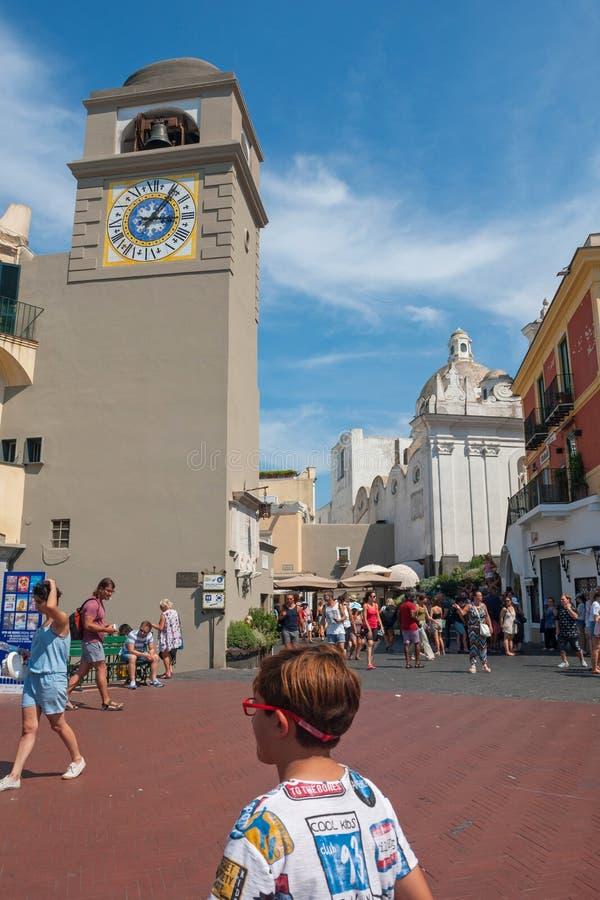 Praça Umberto I imagens de stock