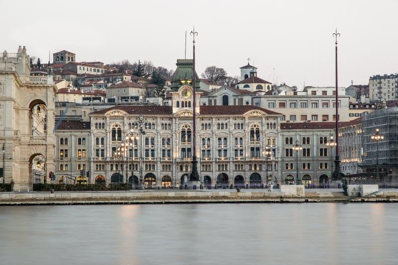 Praça Unità de Trieste foto de stock royalty free