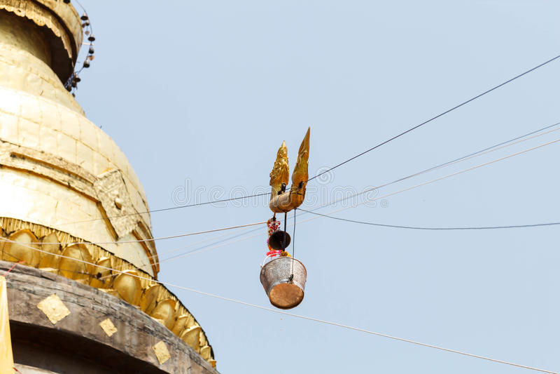 Pra die de tempel van Lampang Laung stock fotografie