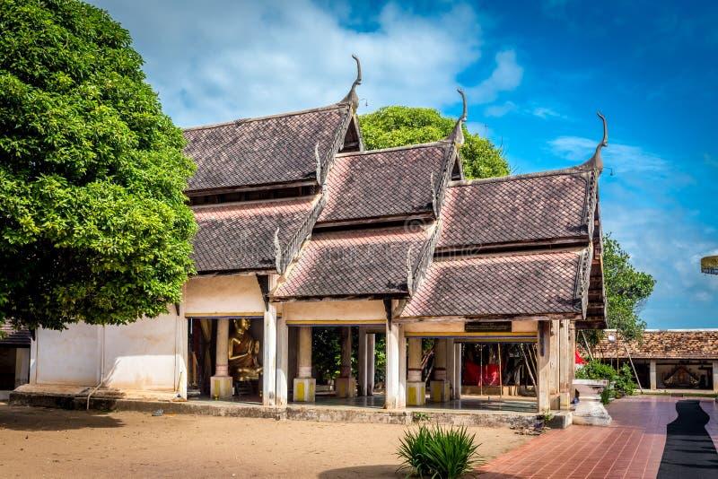 Pra die Lampang Luang, de beroemde oude boeddhistische tempel stock foto
