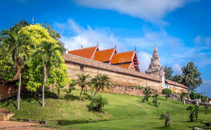Pra die Lampang Luang, de beroemde oude boeddhistische tempel royalty-vrije stock foto
