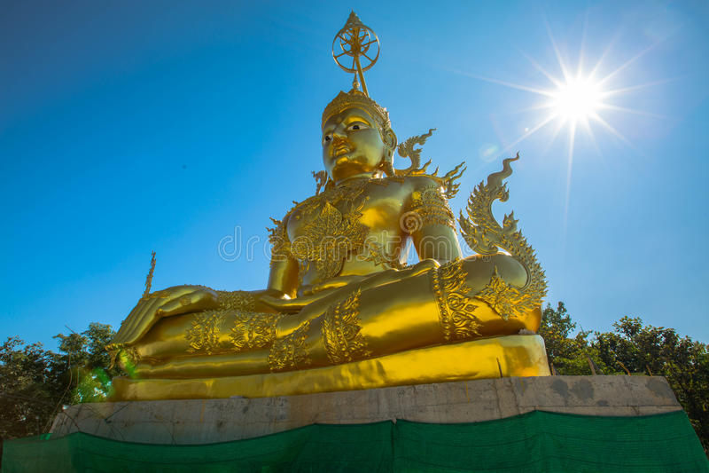 Pra Kata Maha Jakkrapat sutta, Buddha golden statue. royalty free stock photography