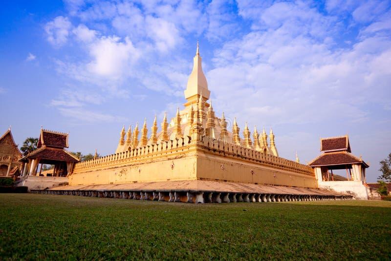Pra tat luang pagoda royalty free stock photo