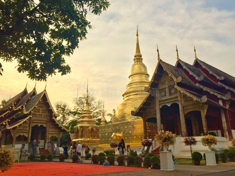 Pra Wat поет Chiangmai Таиланд стоковые фотографии rf