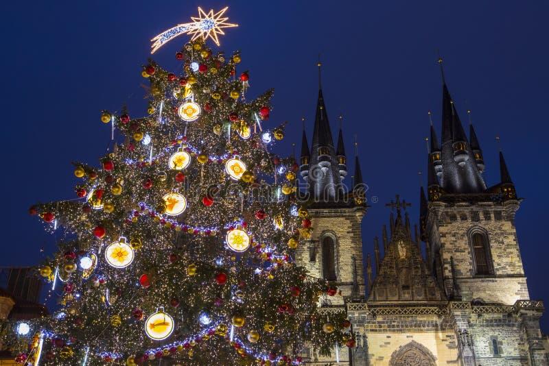 Praag bij Kerstmis royalty-vrije stock afbeeldingen