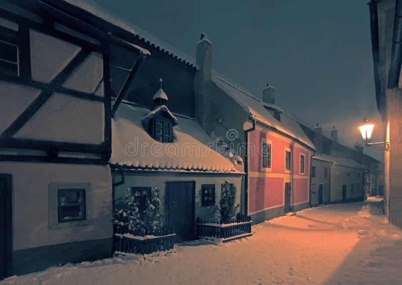 Praag - Gouden Straat in Hradcany royalty-vrije stock foto
