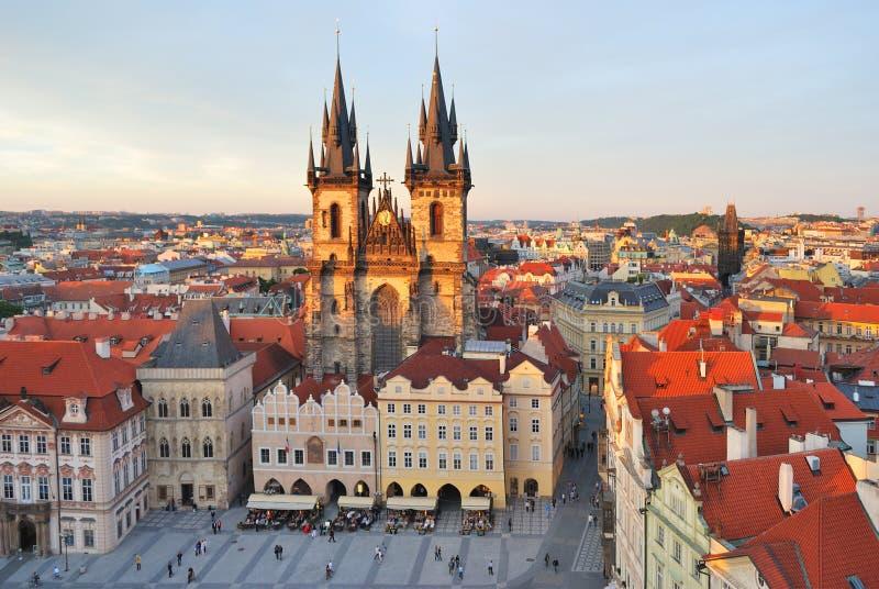 Praag. Het oude Vierkant van de Stad royalty-vrije stock afbeelding