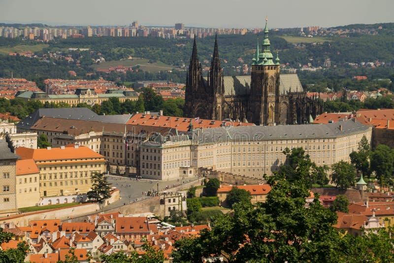 Praag, kasteel stock afbeeldingen