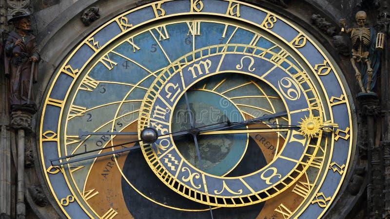 Praag orloj, astronomische klok, Praha, Tsjechische republiek royalty-vrije stock fotografie