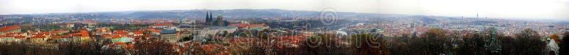 Praag - panorama van Petrin royalty-vrije stock foto's