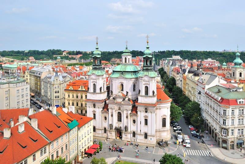 Praag. St.Nicholas in het Oude Vierkant van de Stad royalty-vrije stock foto's