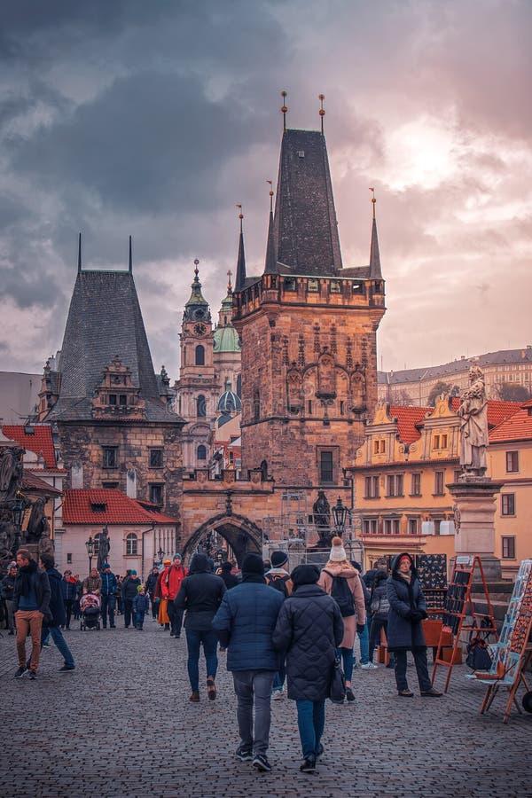 Praag, TSJECHISCHE REPUBLIEK 19 April, 2019 stock afbeeldingen