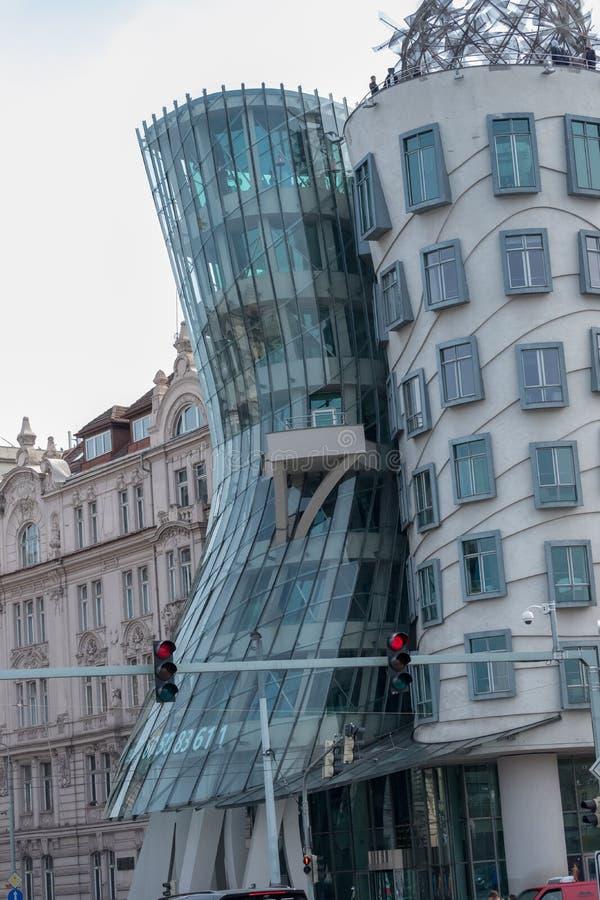 Praag/Tsjechische Republiek 04 02 2019: Dansend Huis in Praag royalty-vrije stock foto's