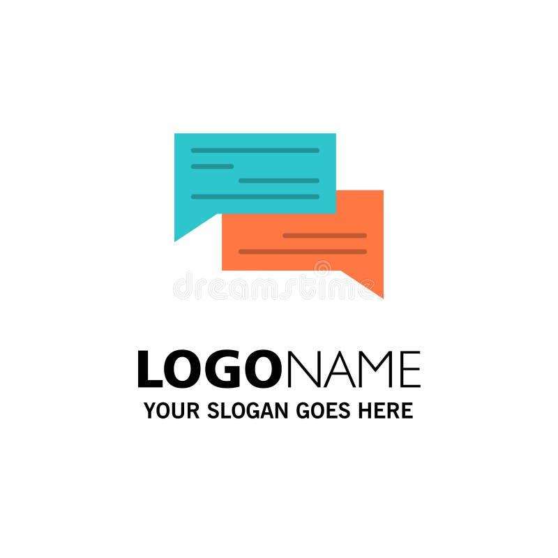 Praatje, Bel, Bellen, Mededeling, Gesprek, Sociaal, Toespraakzaken Logo Template vlakke kleur royalty-vrije illustratie