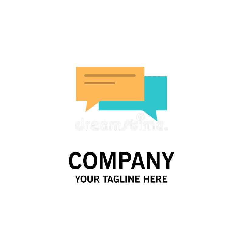 Praatje, Bel, Bellen, Mededeling, Gesprek, Sociaal, Toespraakzaken Logo Template vlakke kleur stock illustratie