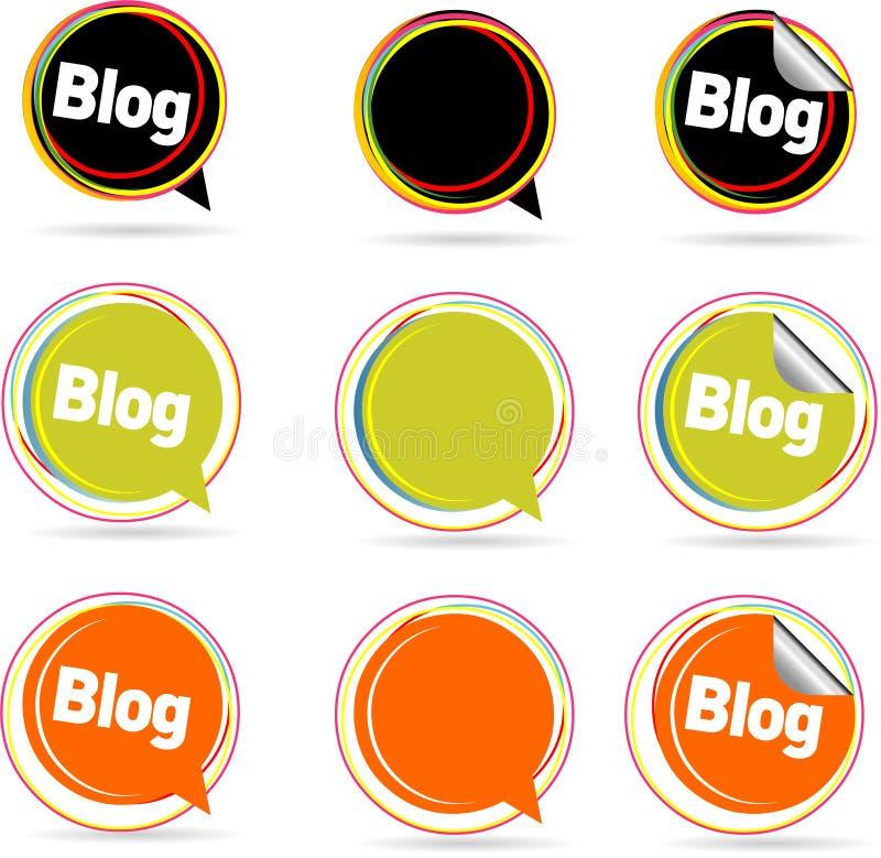 Praatje Bubles vector illustratie